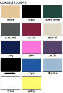 Baseball hat colours